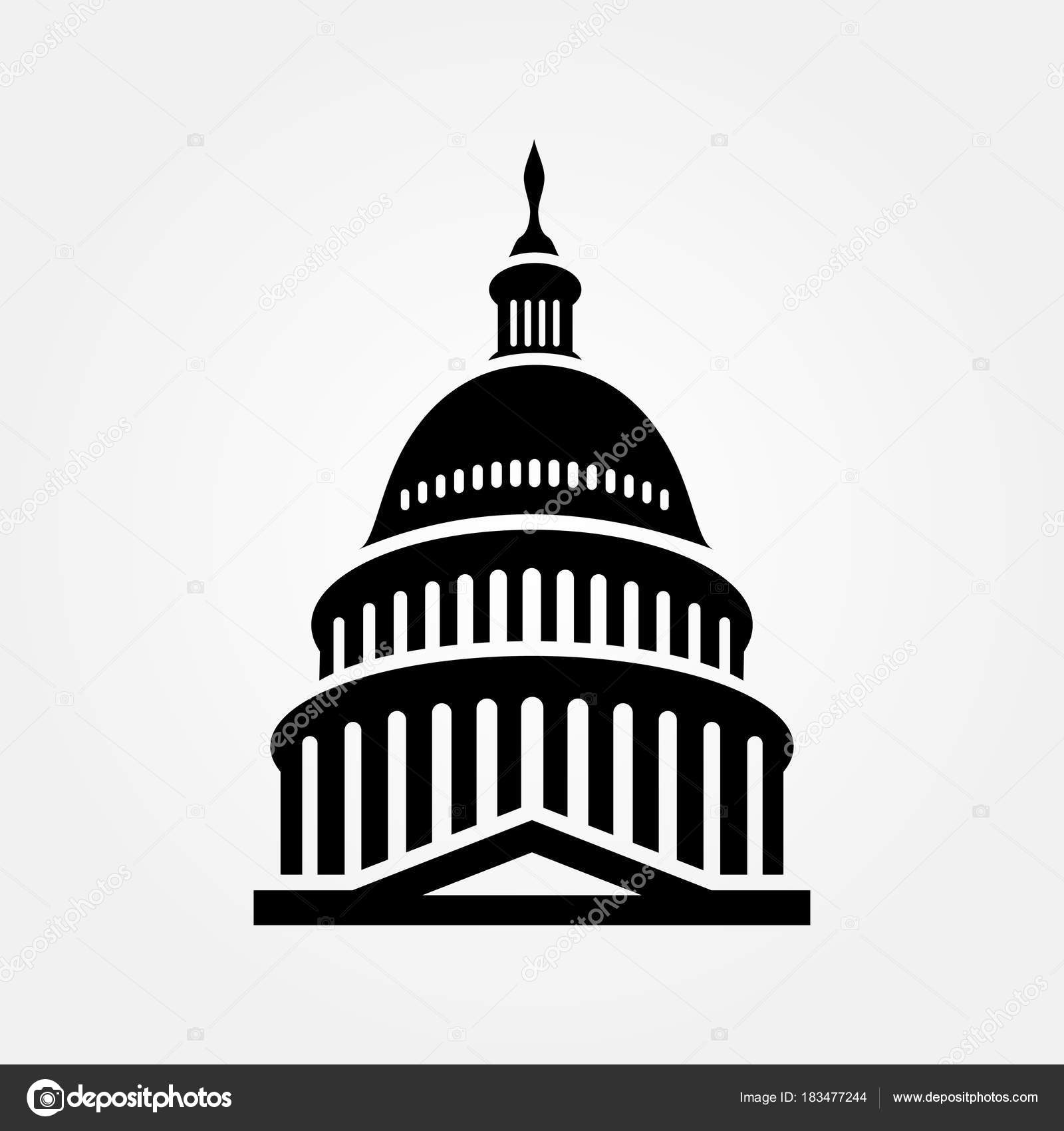 united states capitol building icon vector illustration stock rh depositphotos com capitol building vector art us capitol building vector