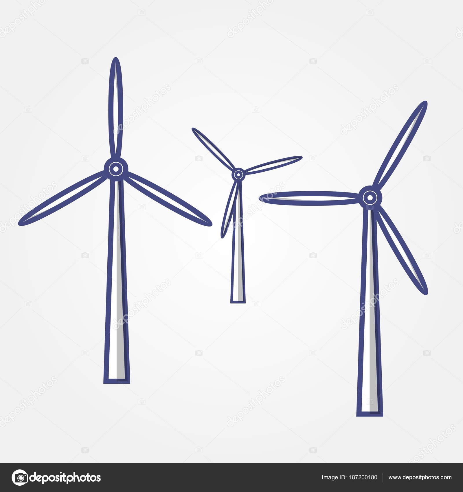 Wind Turbine Symbol Vektor Illustration Stockvektor Zfmbek