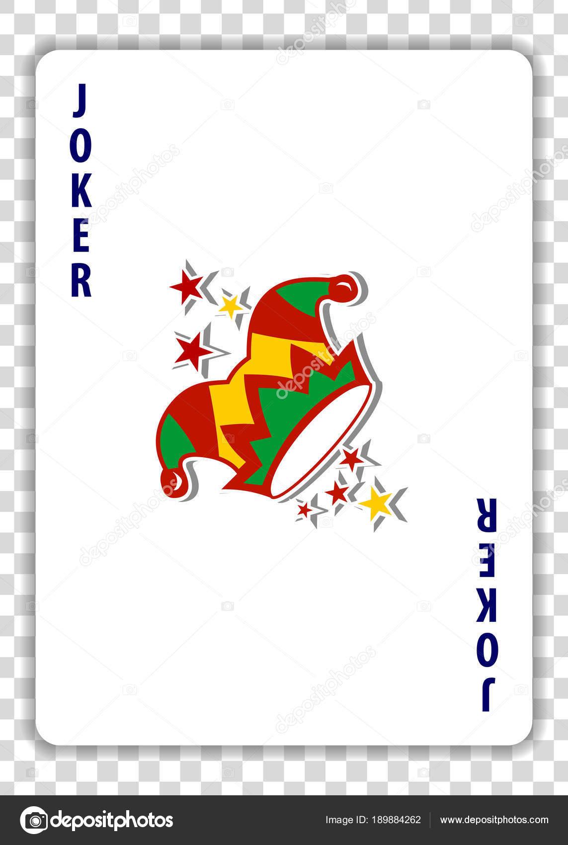 Kart Gry Joker Przezroczystym Tle Ilustracja Wektorowa Grafika