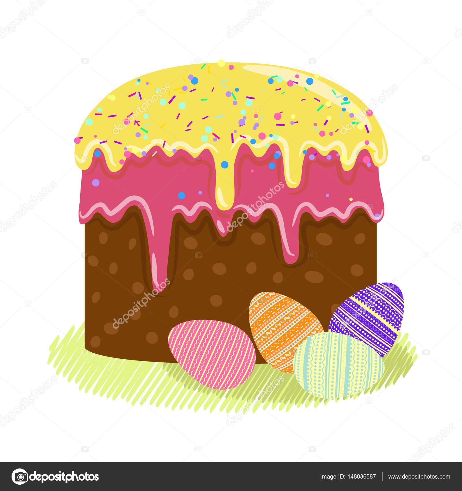 Vector ilustración de Pascua celebración tradicional colorido ...