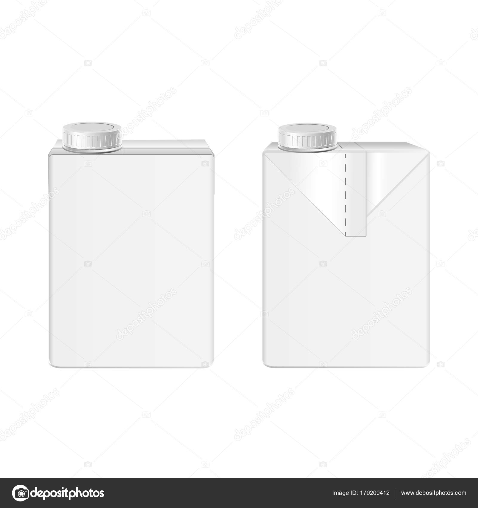 vector 3d mock up of milk or juice box on white background