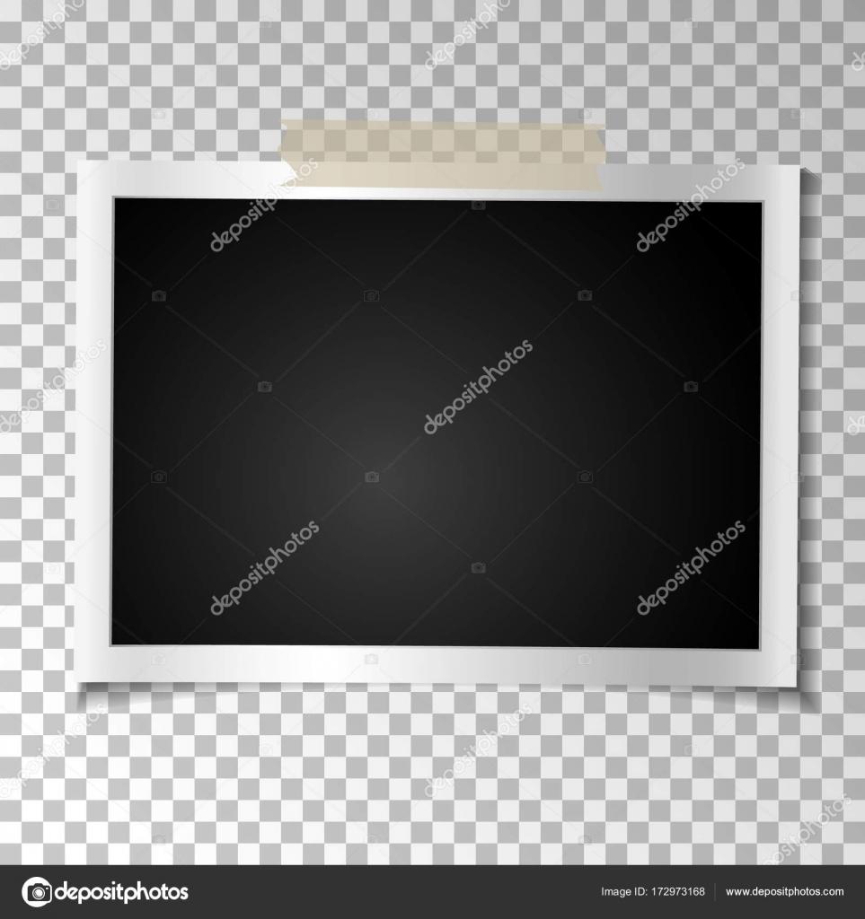 Rahmen Retro-Foto auf transparentem Hintergrund. Vintage horizontale ...