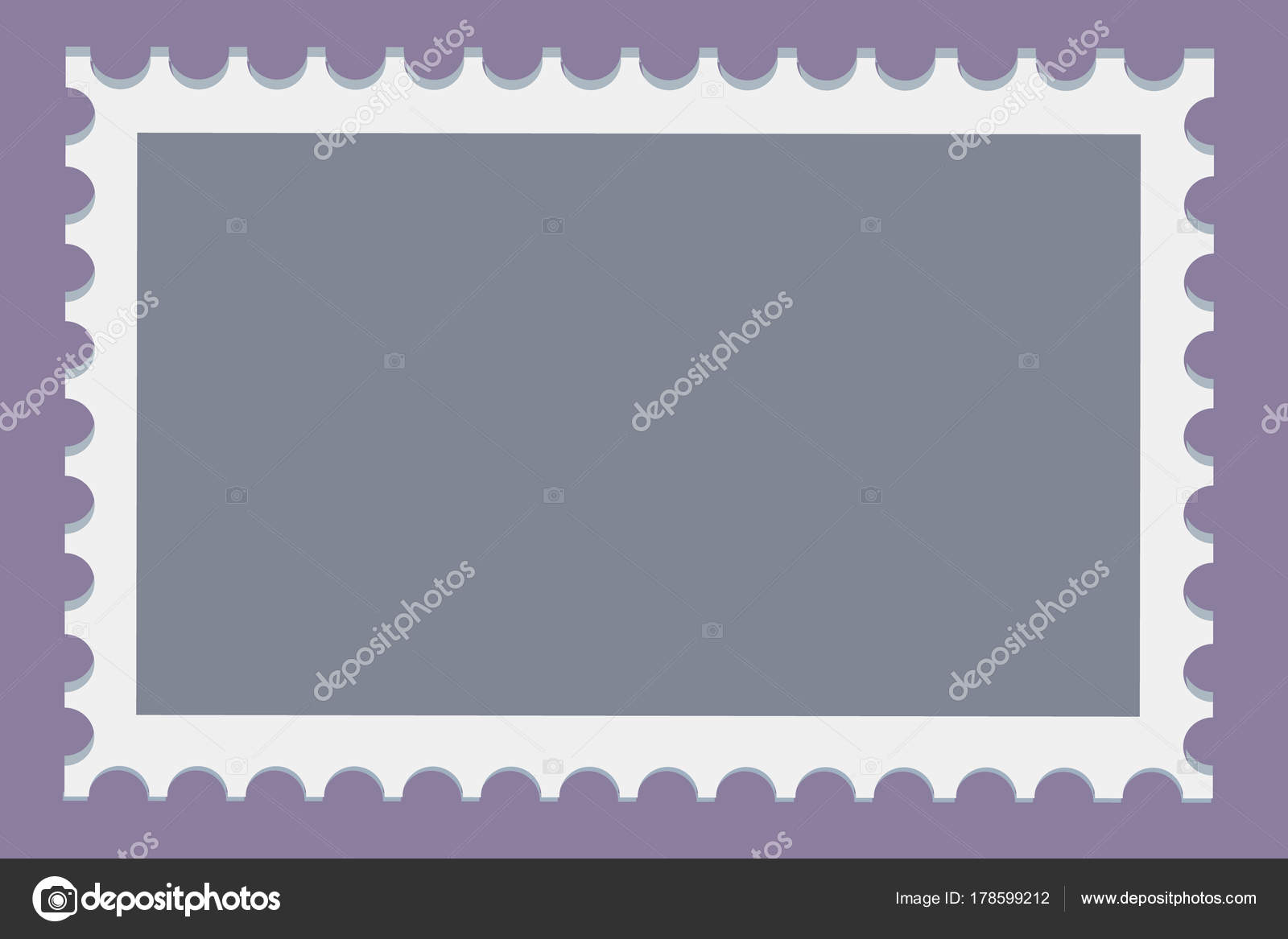 blank postage stamps template set on dark background rectangle