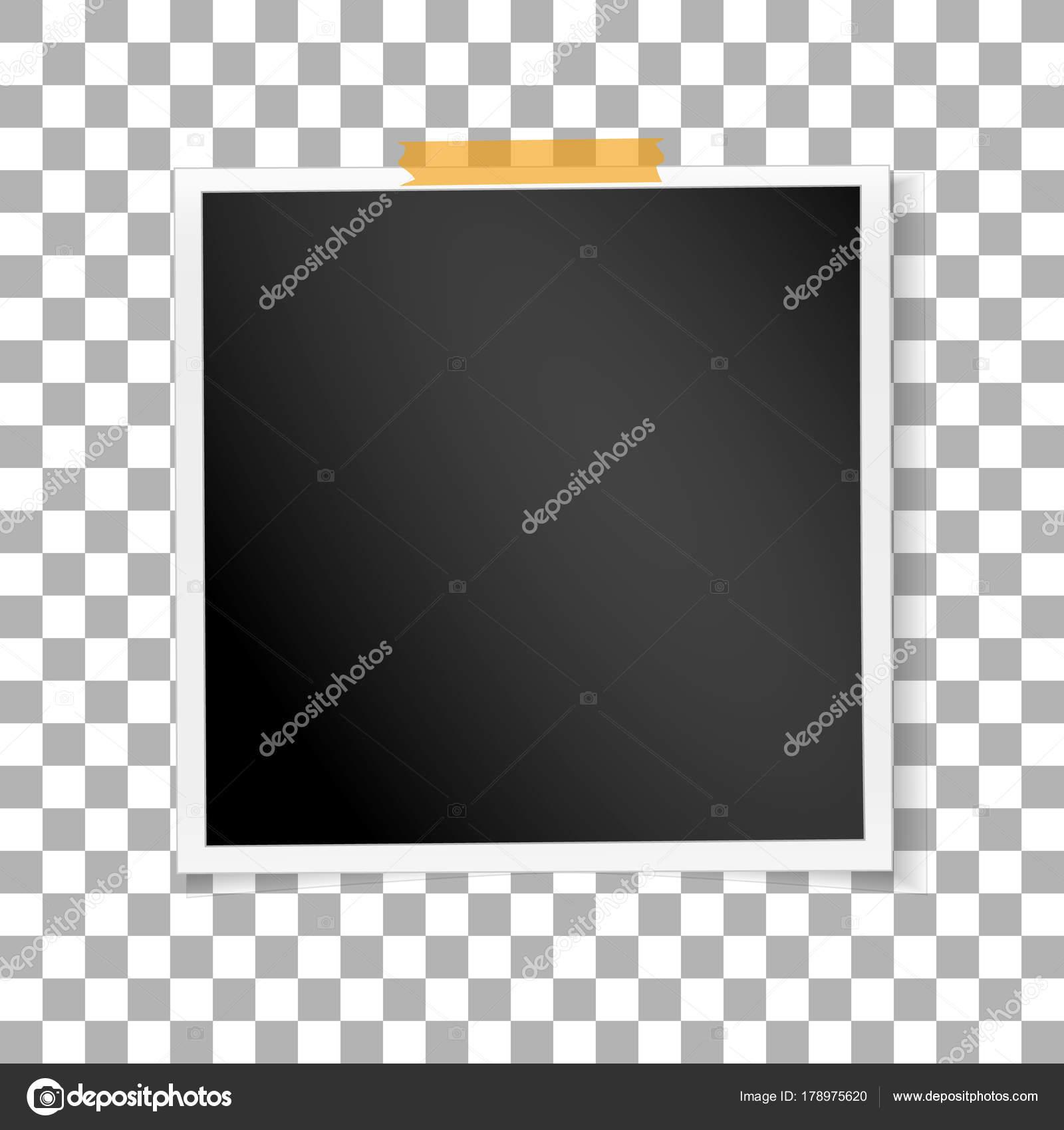 Quadratischer Rahmen Retro-Foto auf transparenten Hintergrund ...