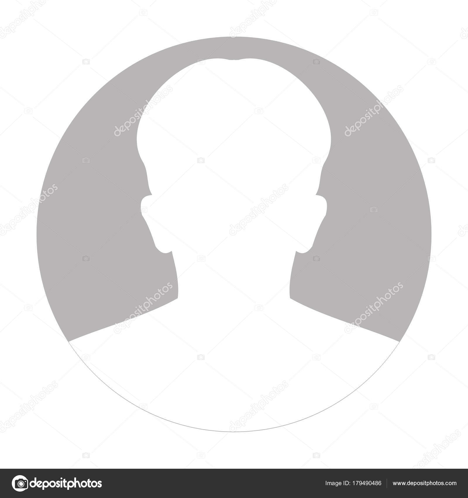 Icon: anonymous face | Profile anonymous face icon  Gray