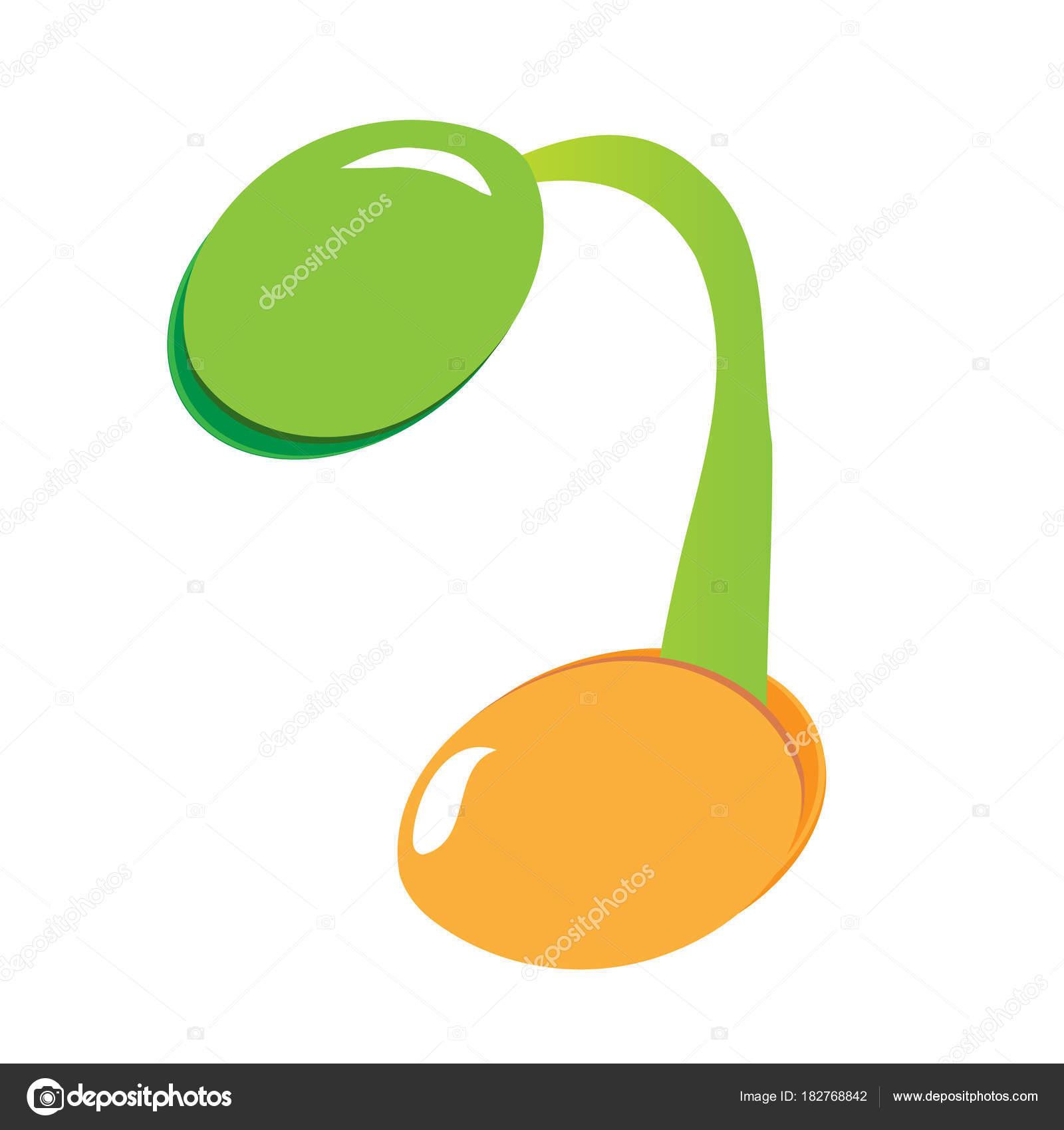Pflanzen Samen sprießen im Boden. Symbol zu Bäumchen wachsen. Symbol ...