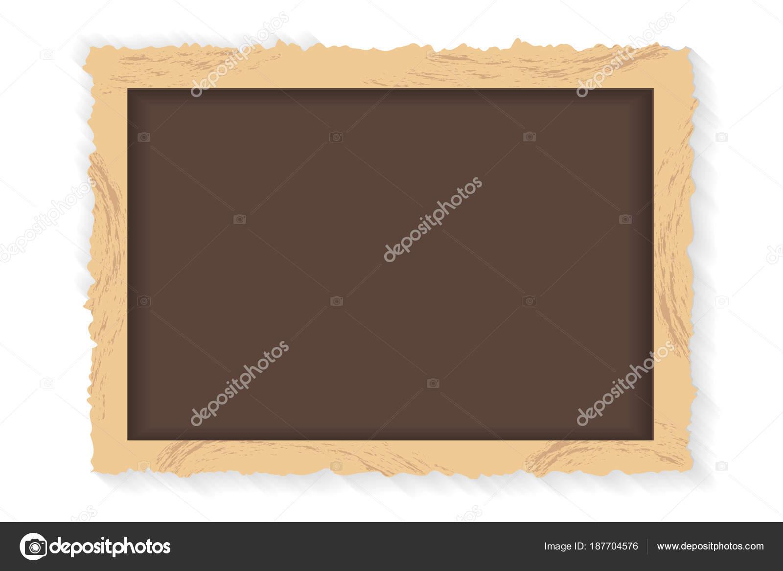 Rahmen Retro-Foto auf weißem Hintergrund. Vintage horizontale leere ...