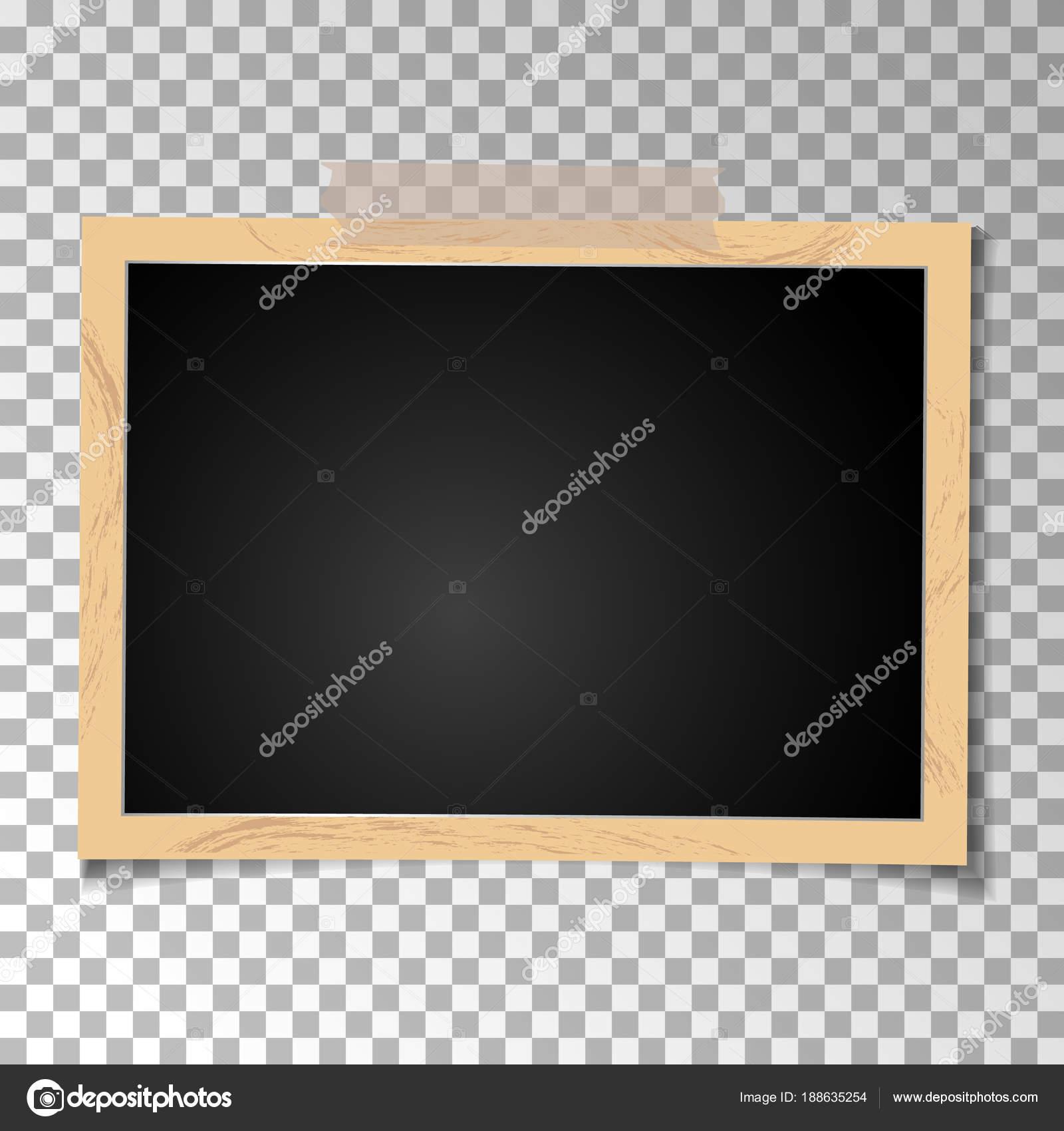 Rahmen Retro-Foto auf transparentem Hintergrund. Horizontale leere ...