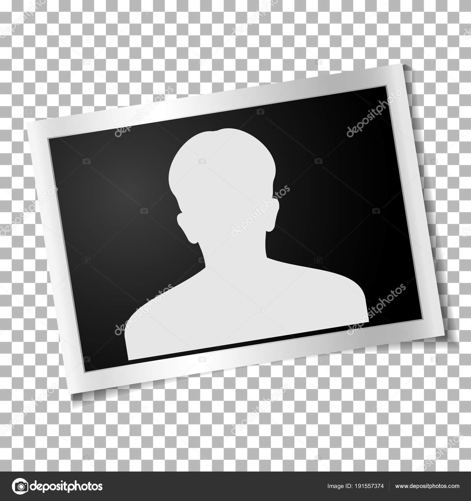 Frame retro photo on transparent background. Horizontal blank old ...