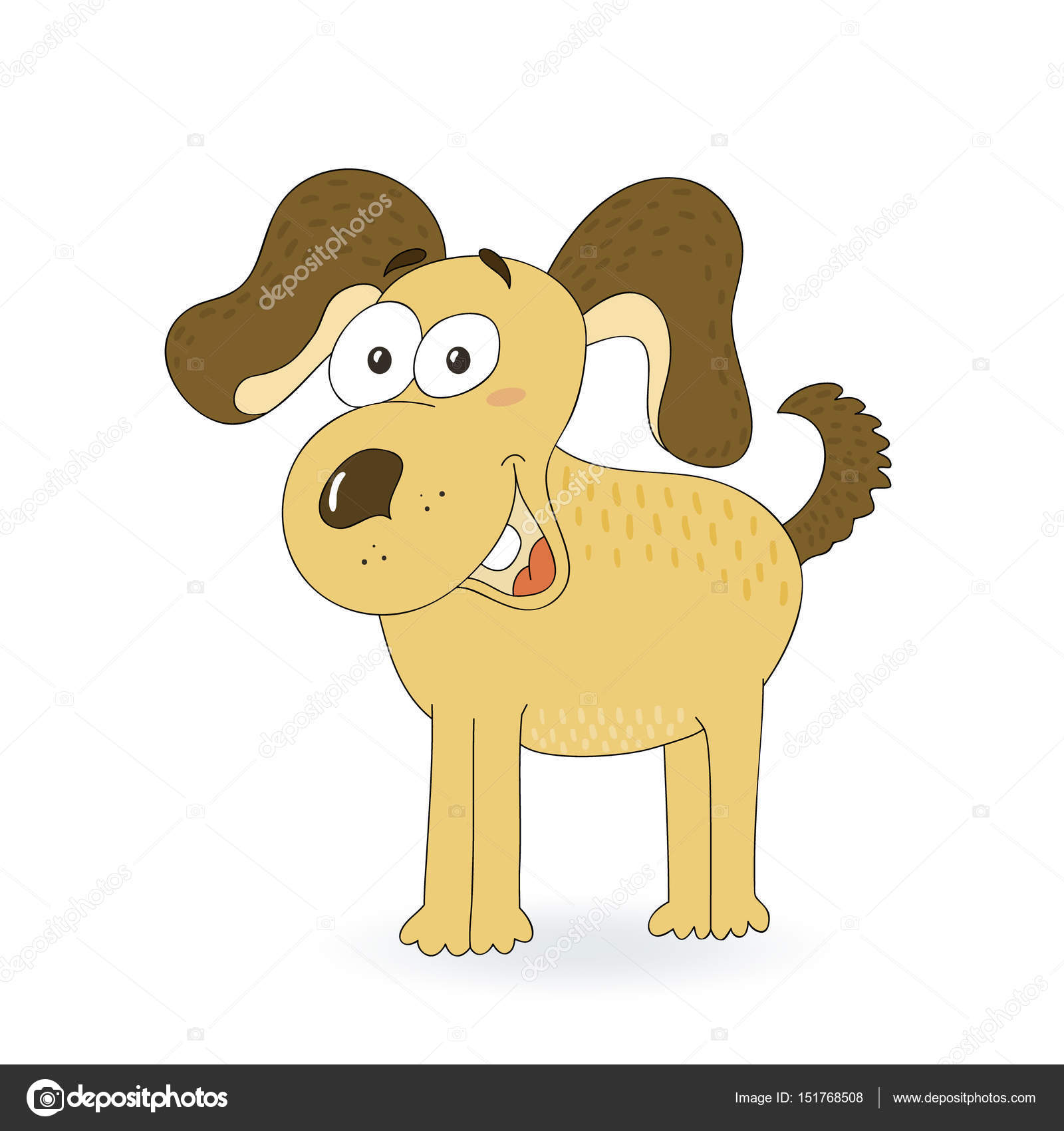 Elle çizilmiş Sevimli Köpek Vektör çizim Stok Vektör Iboiko08
