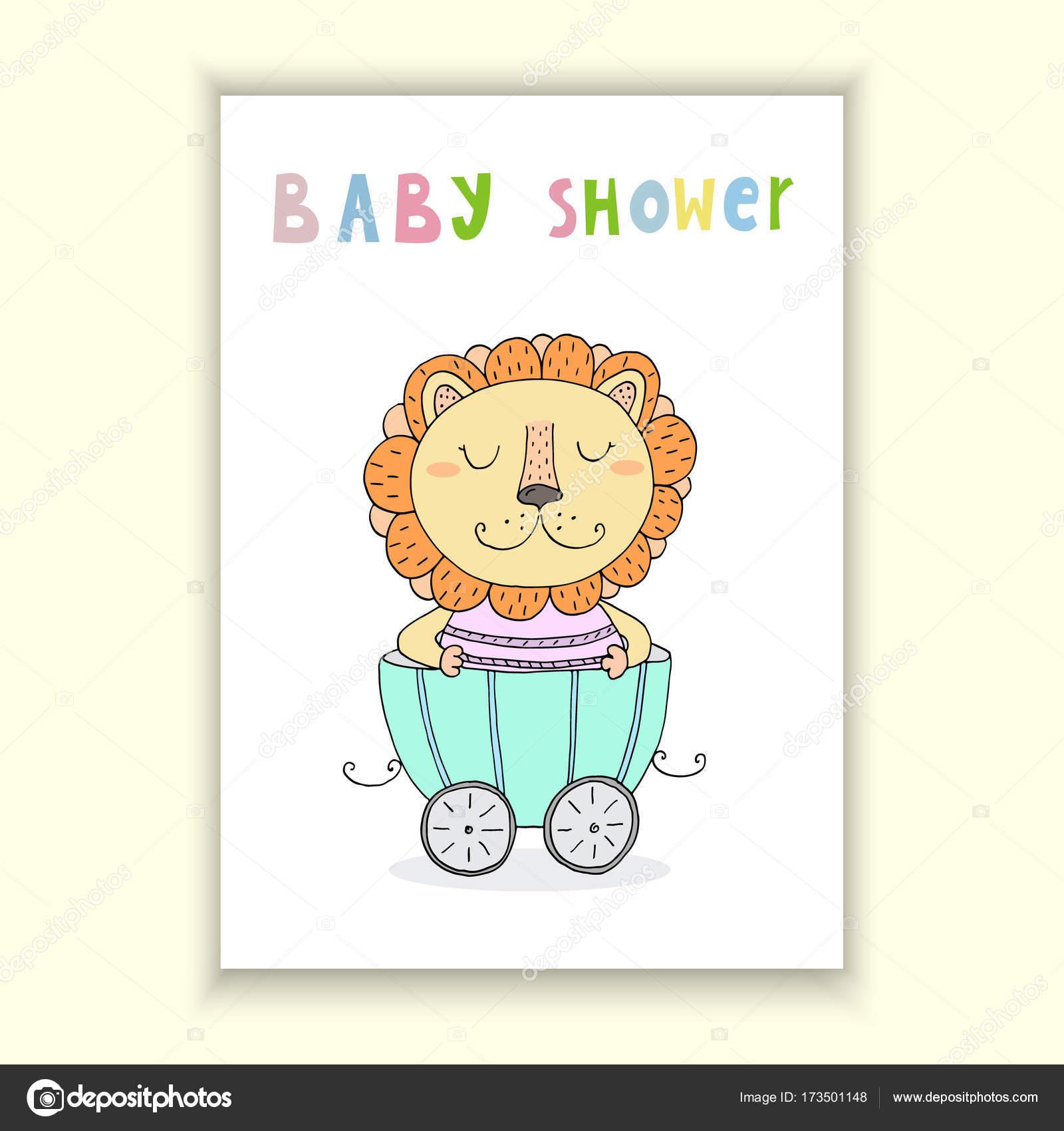 Plantilla Baby Shower Para Imprimir Bebé Ducha Tarjeta De