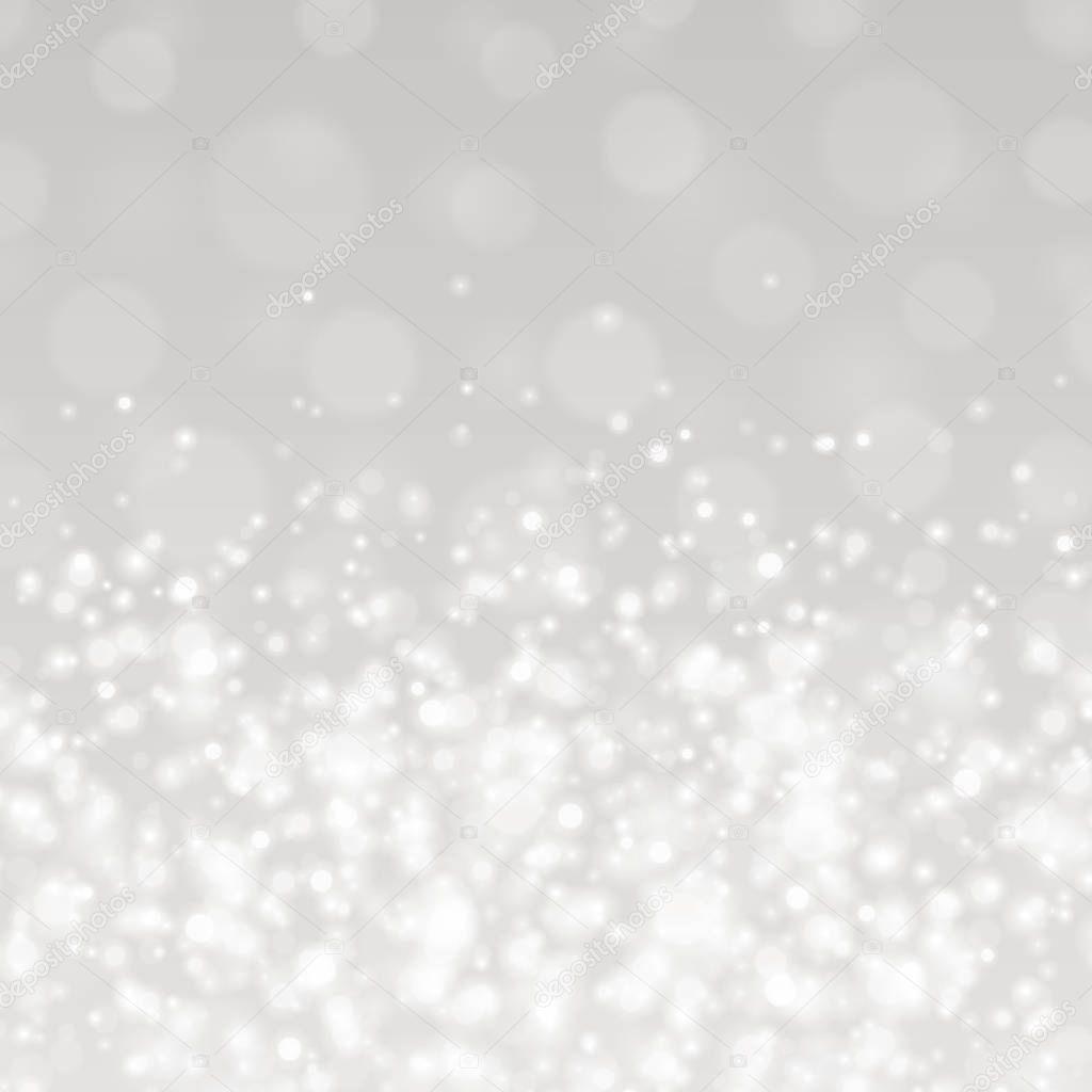 ボケ ライトグレー輝く透明背景ベクトル イラスト — ストックベクター