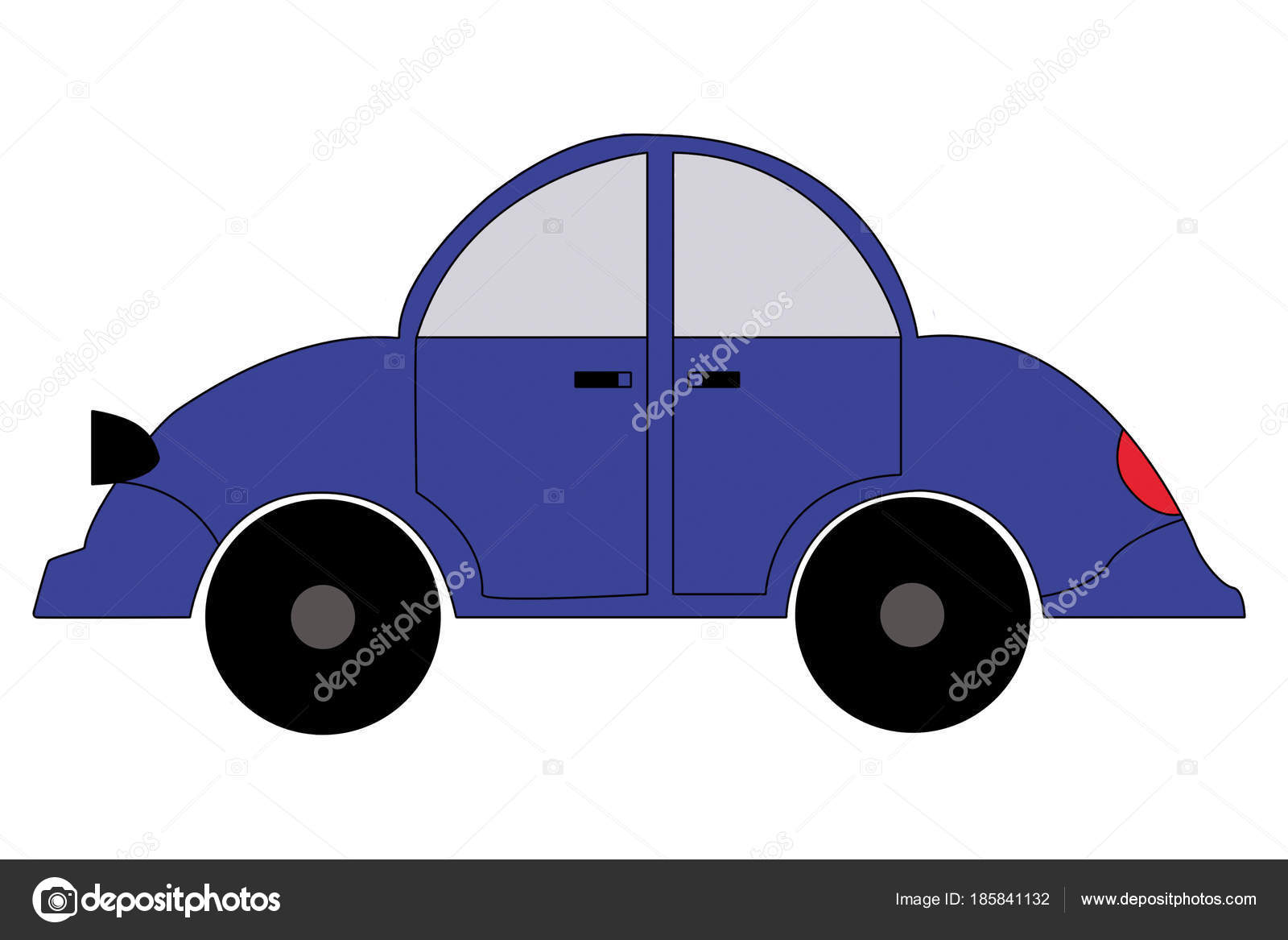 Car Blue Color On A White Background Stock Photo C Grommik 185841132