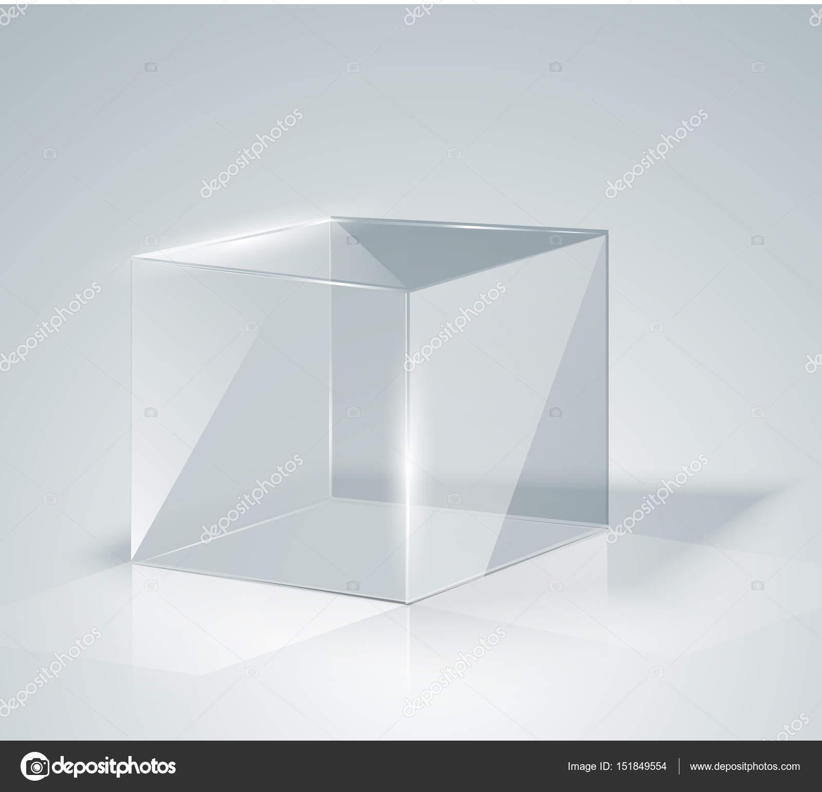 3d Glazen Kubus.Glazen Kubus Transparante Kubus Stockvector C Ann Zasimova 151849554