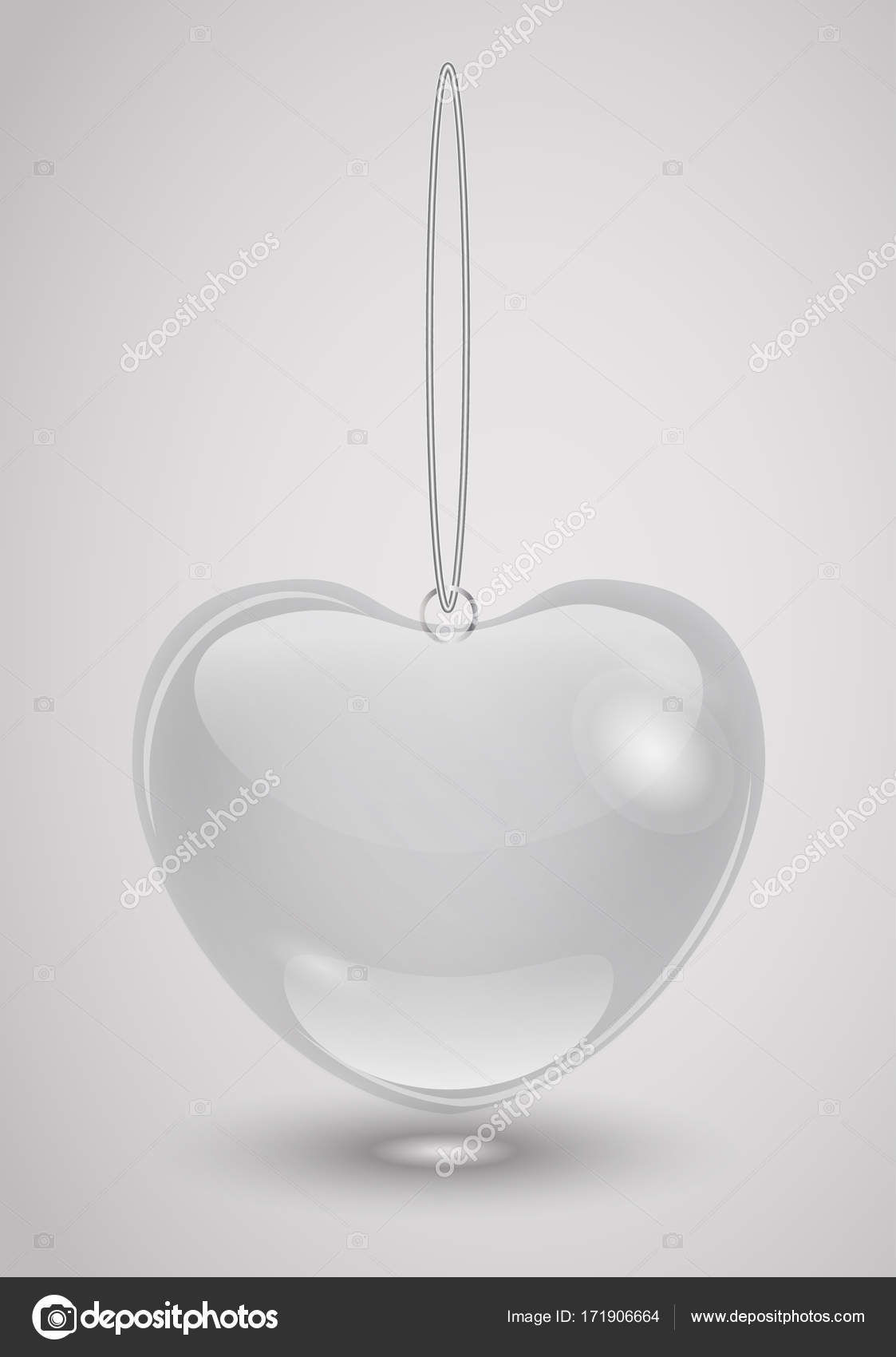 Glass Decoration Romantic Valentines Day On A Transparent Background