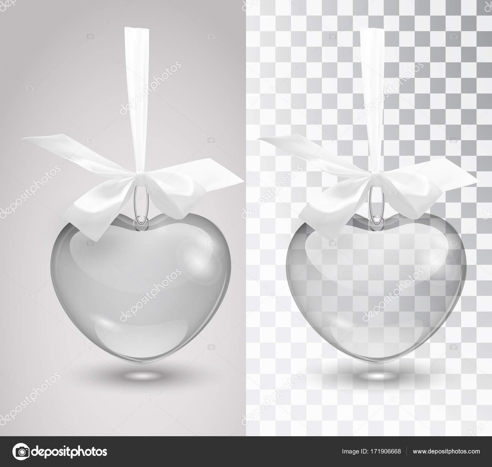 Cristal decoración romántica de vector con una cinta sobre un fondo ...