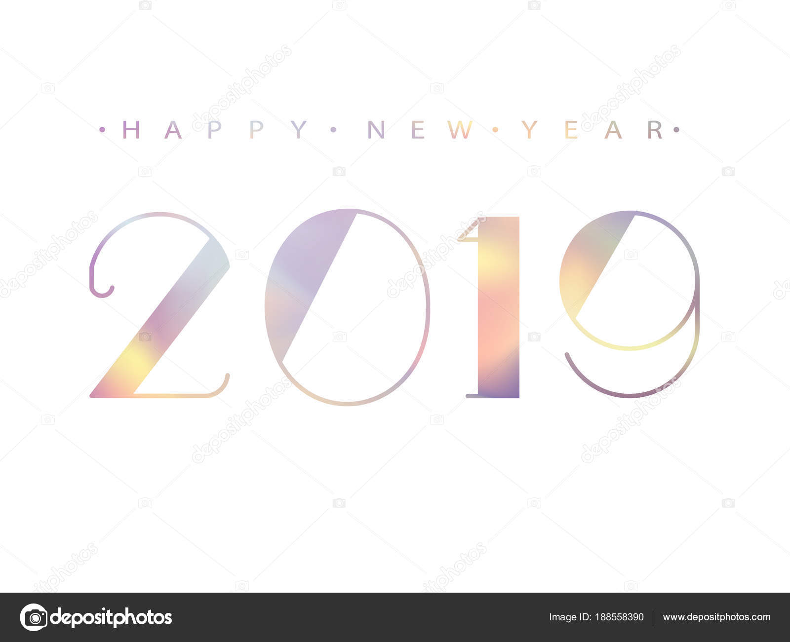 2019 happy new year holographic numbers design of greeting card holographic numbers design of greeting card holographic shining pattern kristyandbryce Gallery