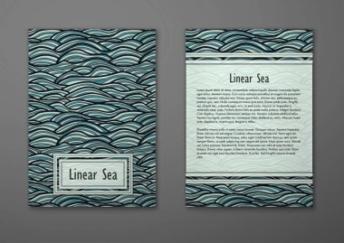 Card with abstract waves pattern