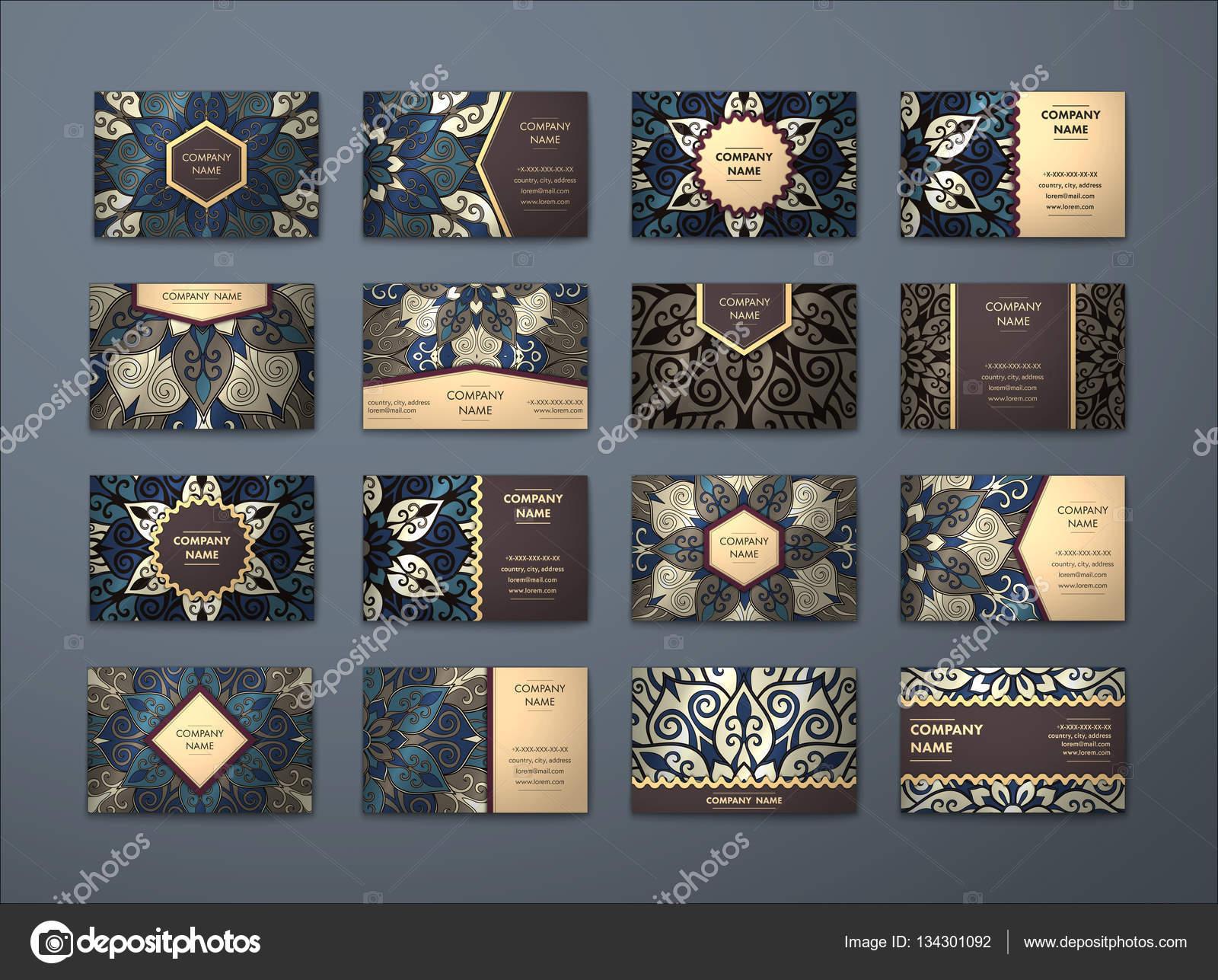 Vector vintage business cards big set — Stock Vector © Kakapo_Studio ...