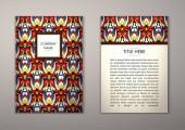 Flyer šablony s abstraktní ornamenty
