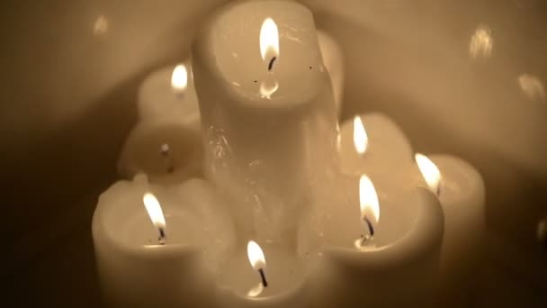 burning candles in the bathroom