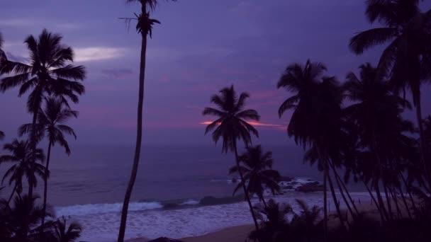 bellissimo tramonto sulla riva delloceano tropicale