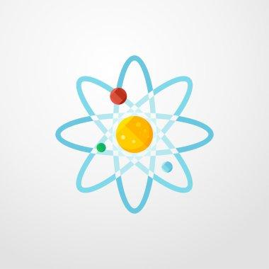 solar system icon. flat design