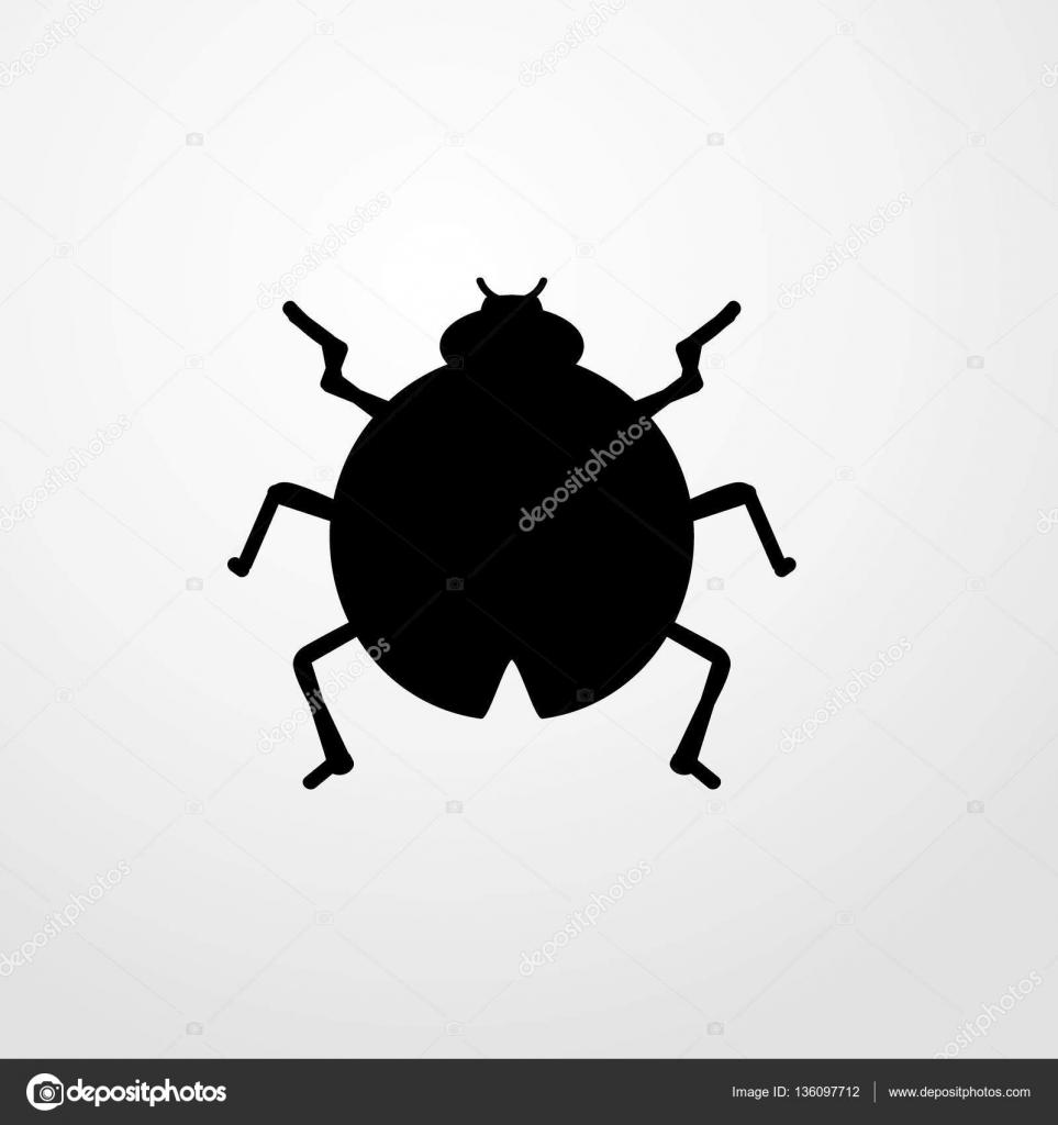 Coccinelle Symbole coccinelle insecte icône illustration isolé vecteur signe symbole
