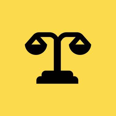 scale ballanced icon. flat design