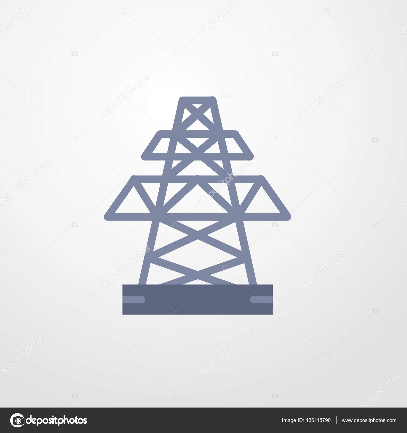 elektrische Turm Symbol Abbildung isolierten Vector Zeichen symbol ...