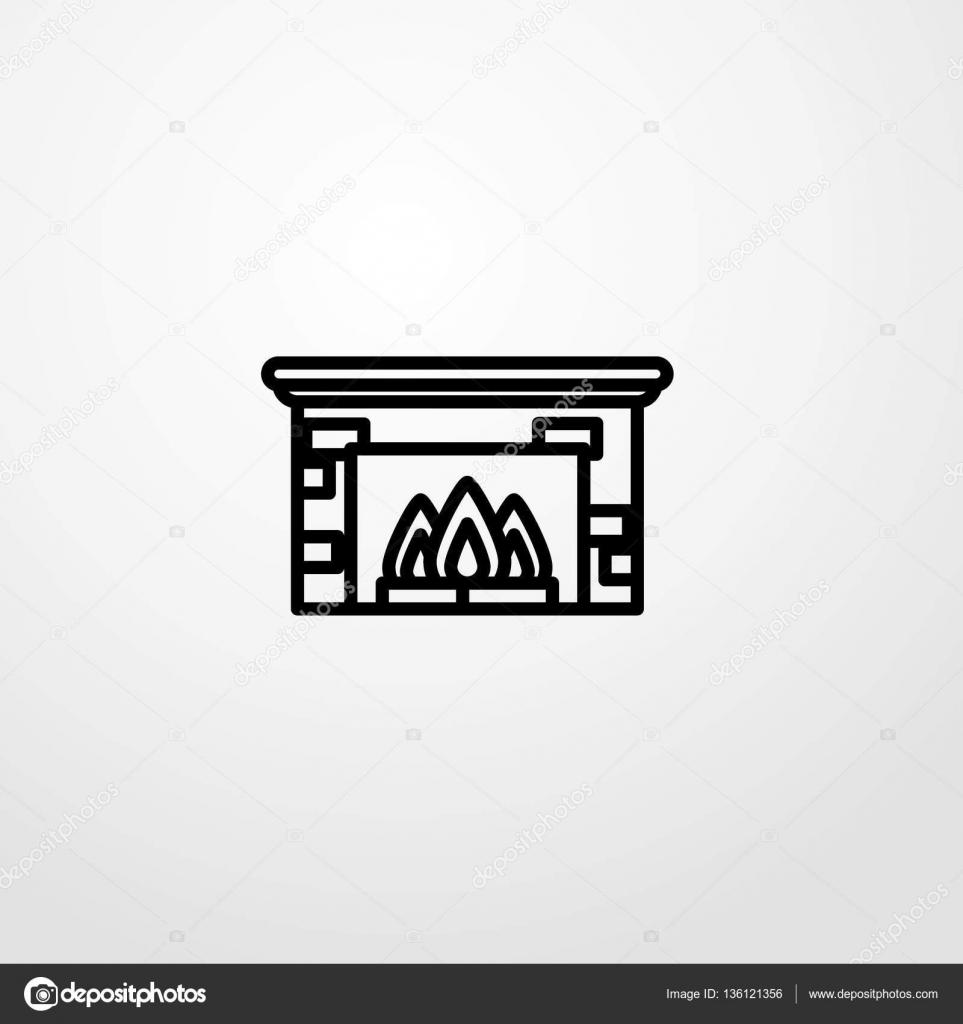 simbolo del segno di camino icona illustrazione vettoriale isolato
