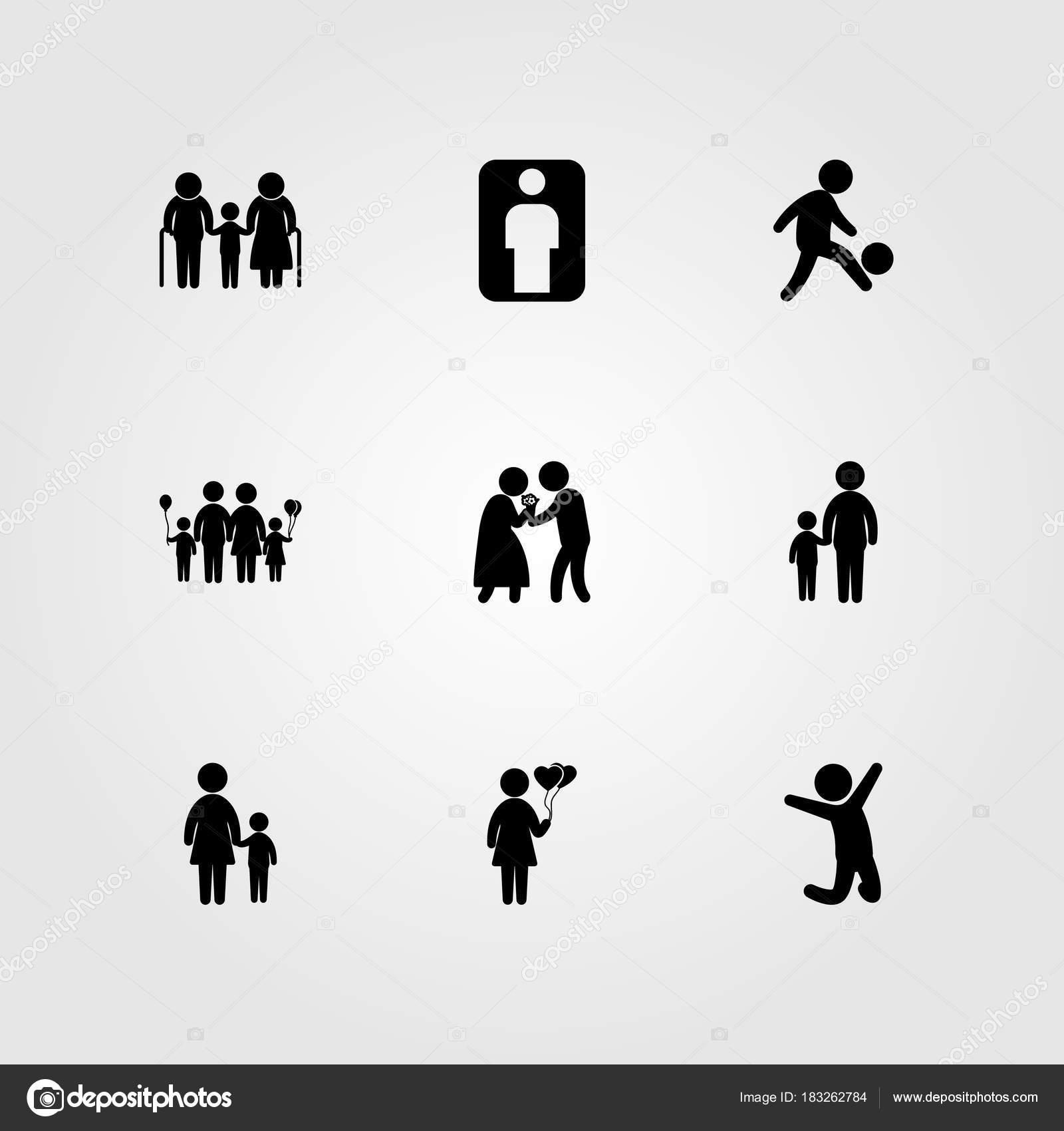 Imágenes Que Representen El Amor En La Familia Icono De Los Seres