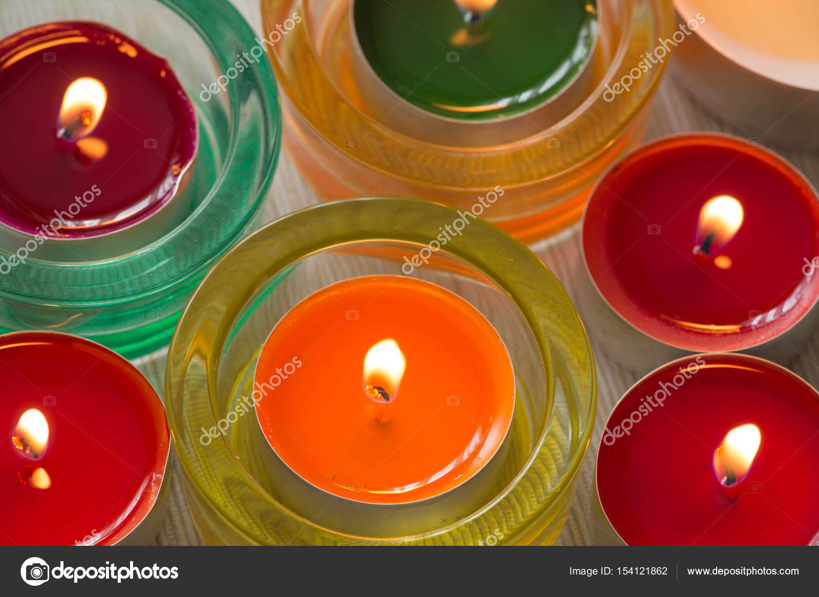 Candele colorate hygge tempo foto stock rochu 2008 for Candele colorate