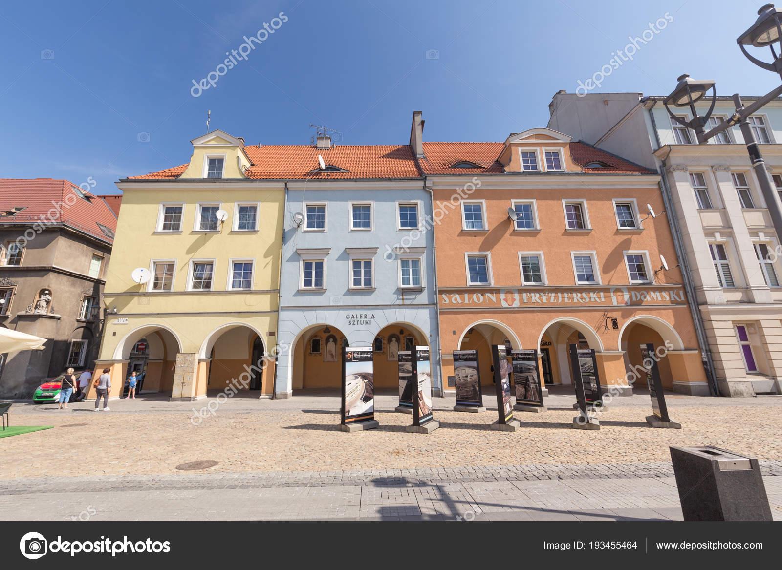 Gliwice Silesia Main Market City Center Historical Tenements April