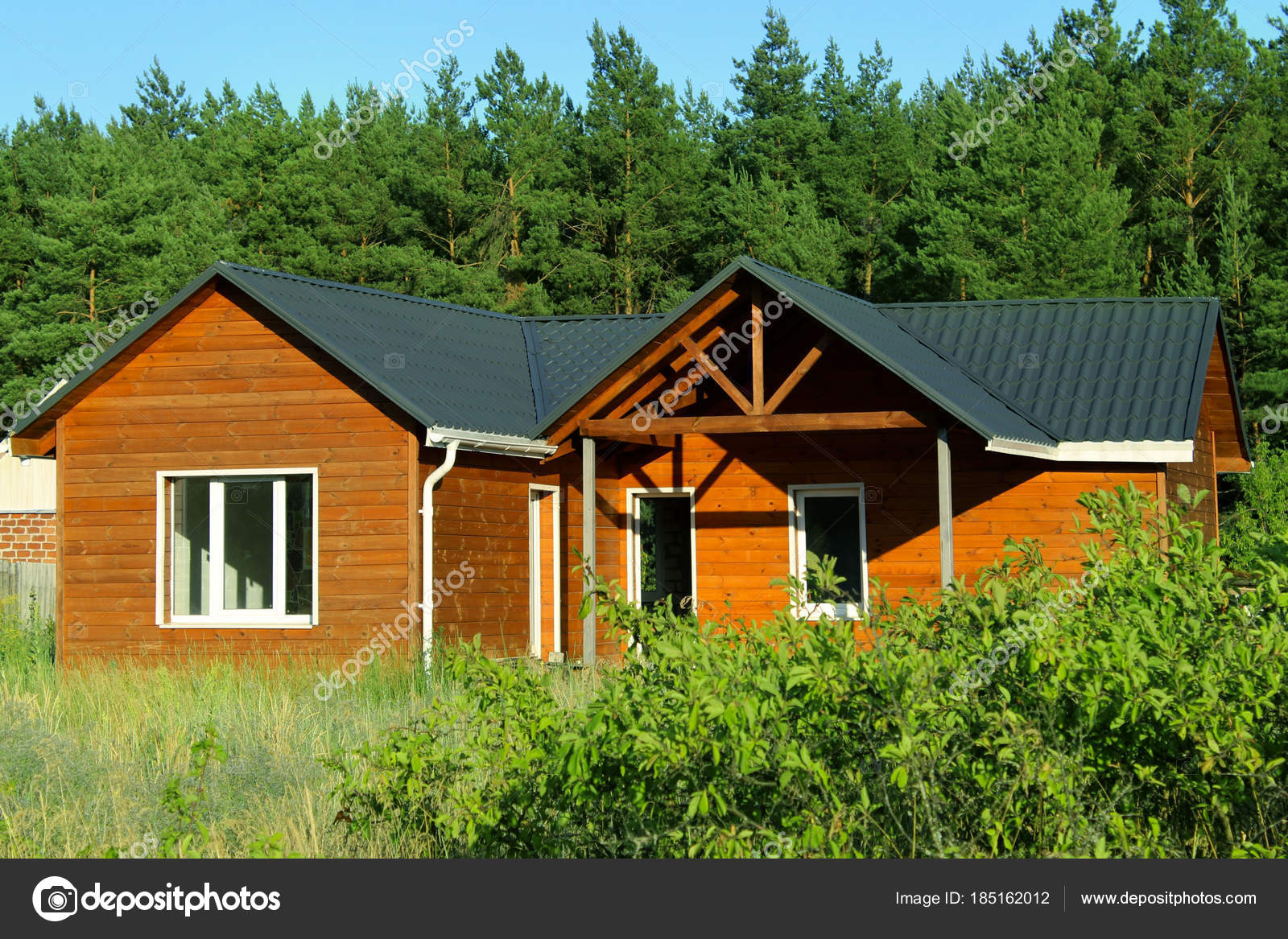 Holzhaus Landschaft Okologische Kleines Holzhaus Holzhaus