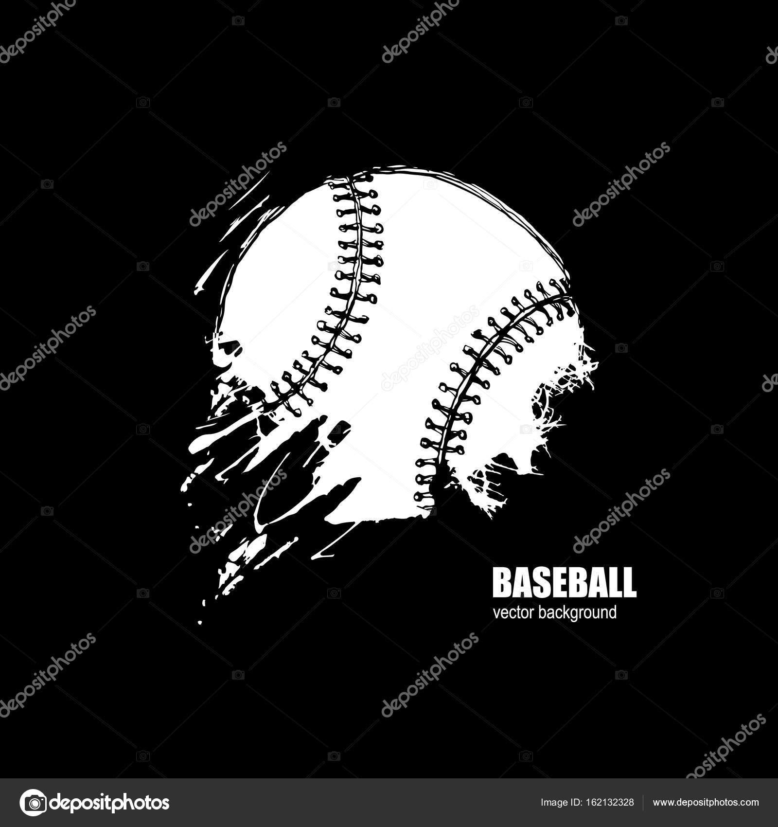 bola de beisebol imprimir na camiseta logotipo do esporte fundo
