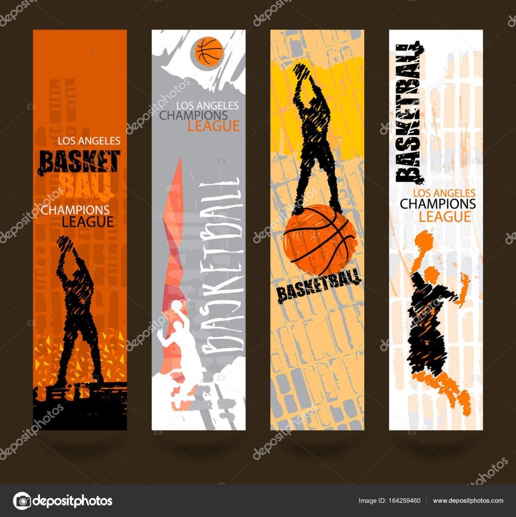 Design für die Basketball-Meisterschaft. Banner, Flyer Vorlage Sport ...