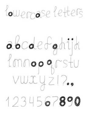 Vector set with alphabet letters sequence from A to Z. Hand drawn english font design, decorated with hatch.