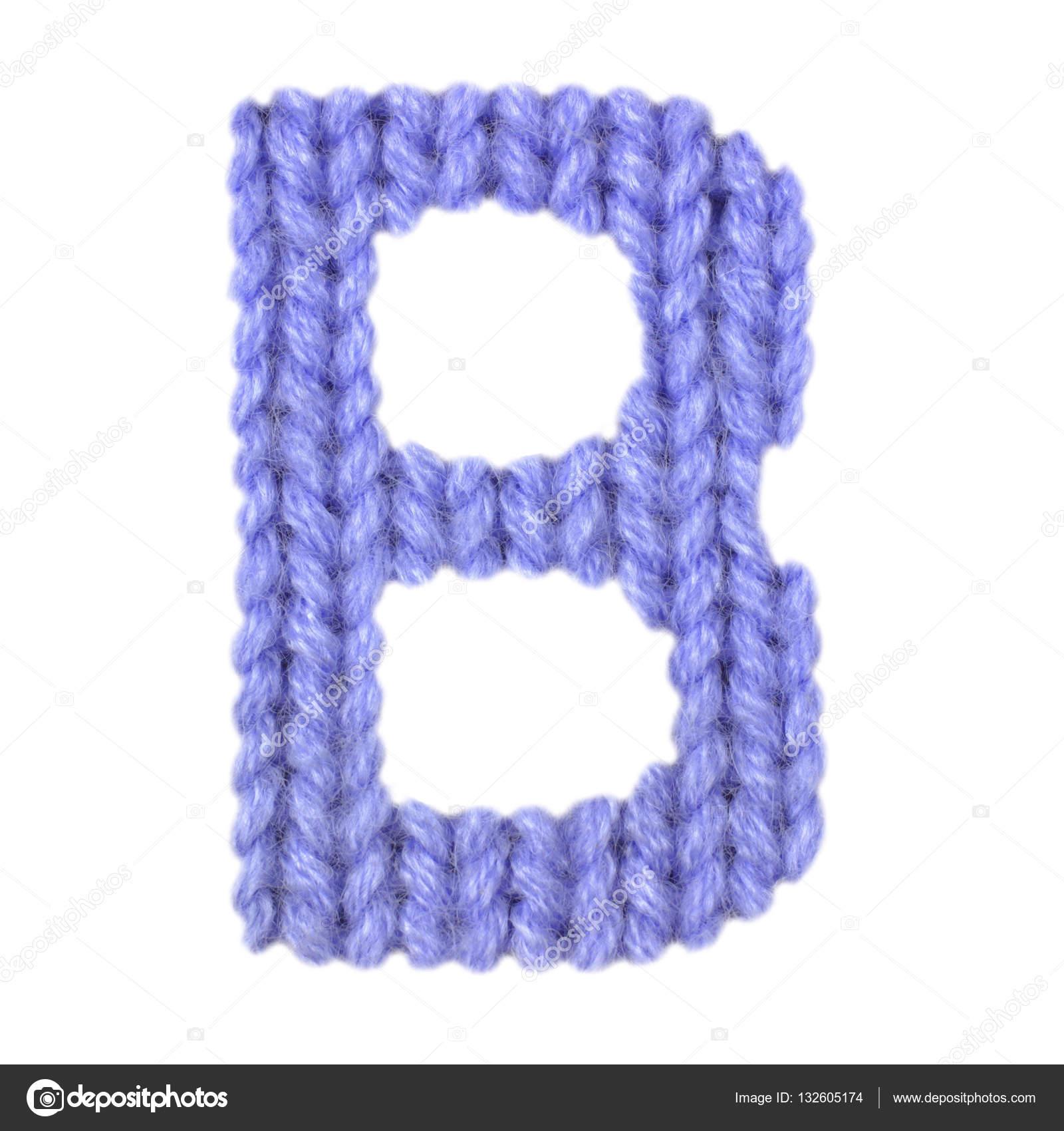 Buchstabe B englische Alphabet, Farbe dunkelblau — Stockfoto ...