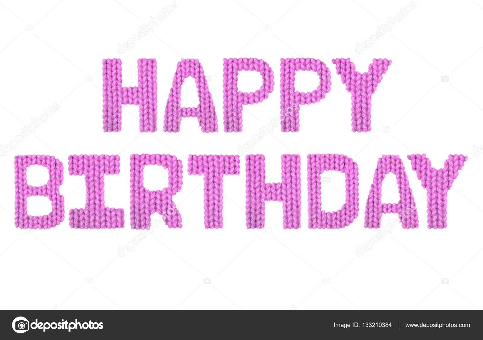 Feliz cumpleaños. Color color de rosa — Fotos de Stock © lbrfzhjpf ...