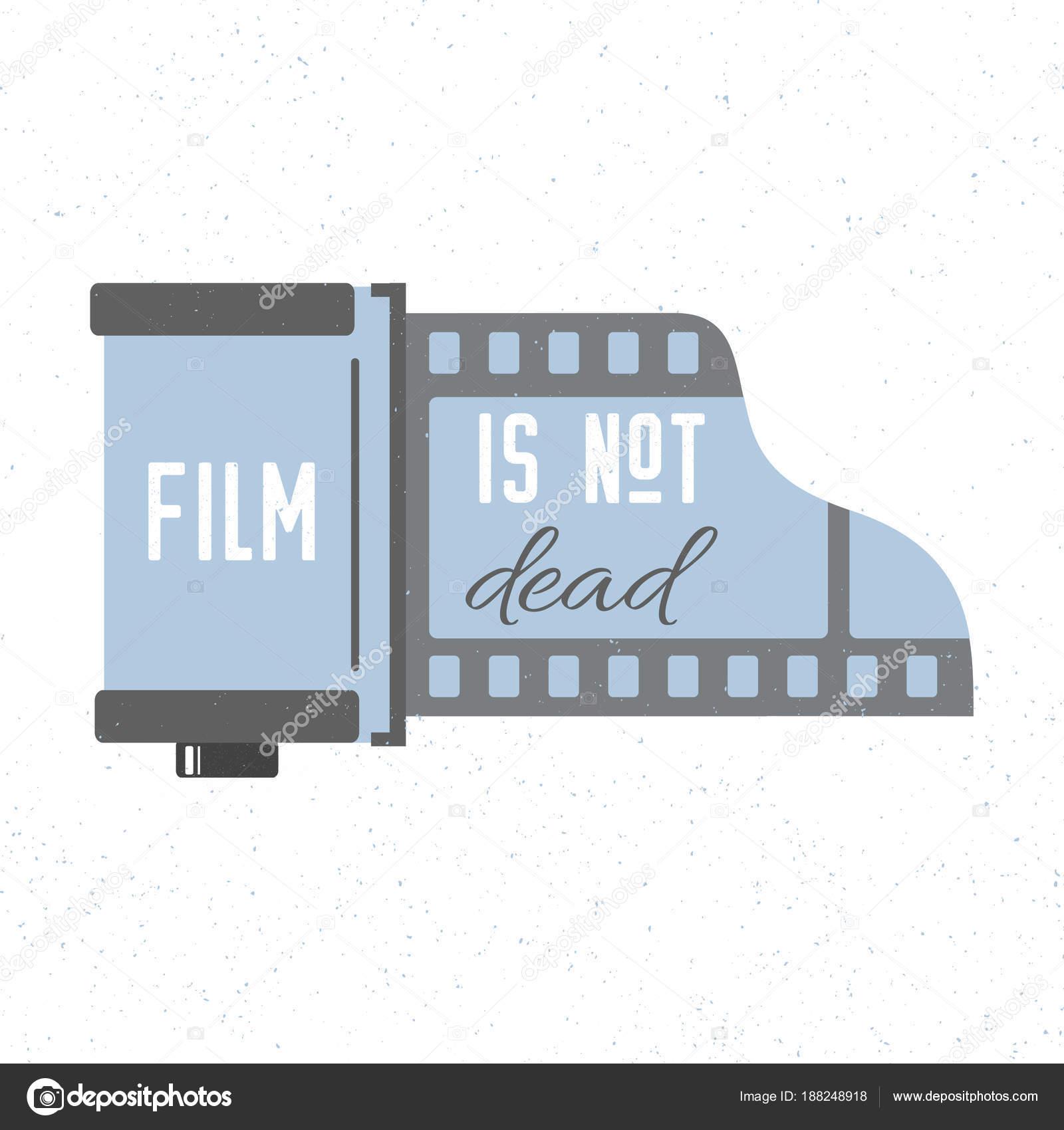 Mit fotografischen Film Kassette Symbol Drucken. Film ist nicht tot ...