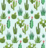Sukulentní a kaktus bezešvé vzor