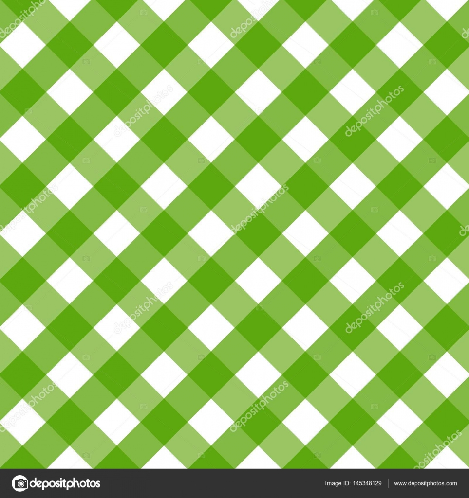 stunning Checkered Tablecloths Part - 11: Traditional tablecloth pattern. Checkered tablecloths pattern green.  Background of diagonal u2014 Stock Vector