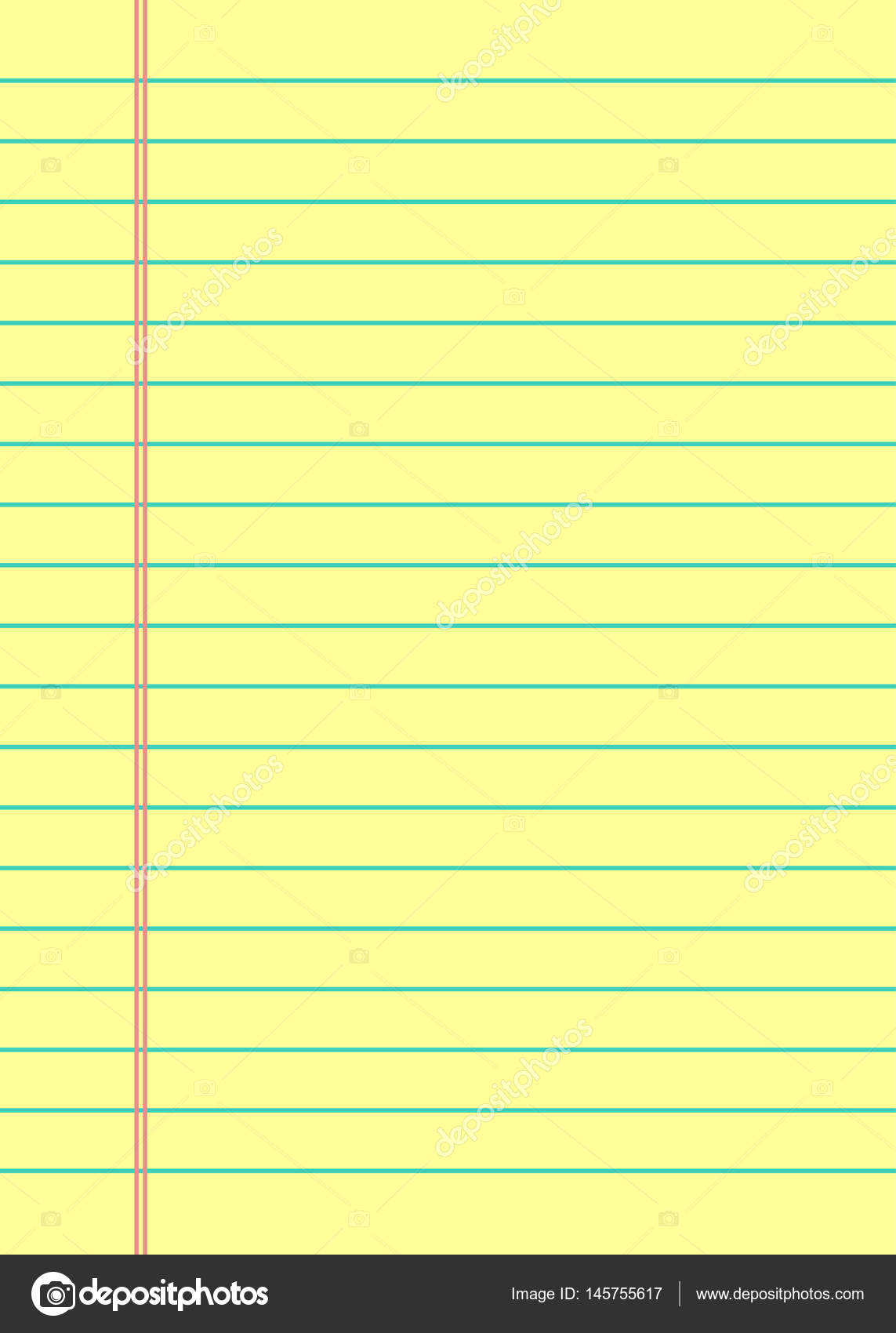 Notebook Paper Background. Yellow Lined Paper U2014 Stock Vector  Download Lined Paper