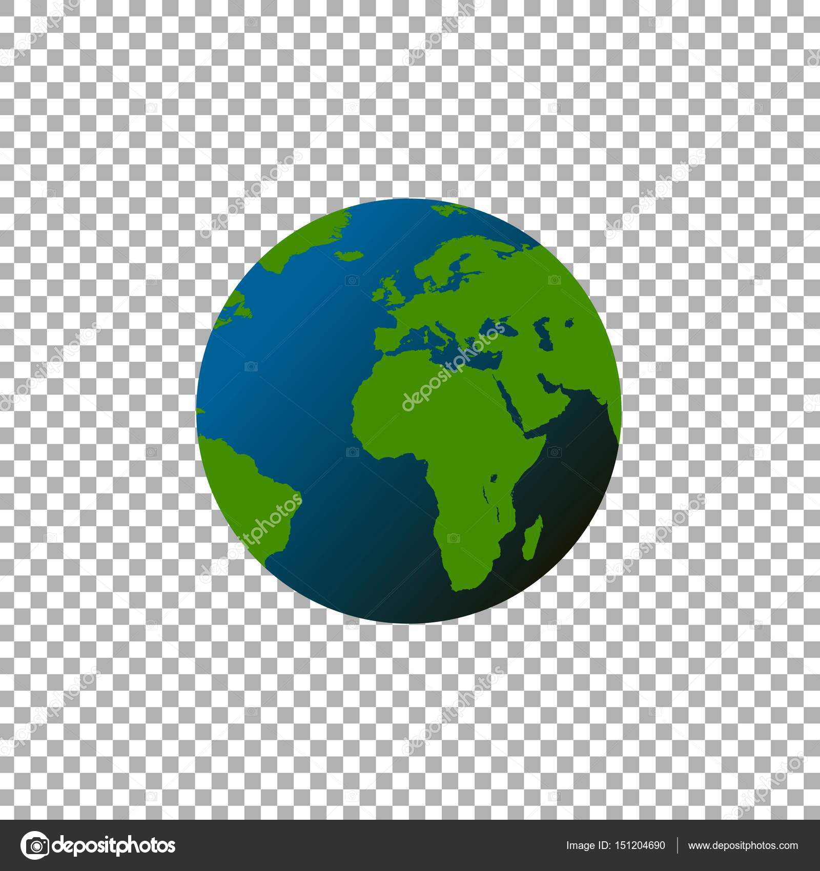 globe world map on transparent background stock vector