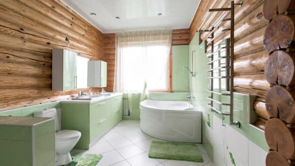 łazienka W Stylu Rustykalnym Domku W Górach Z Pięknym Wnętrzem Dom Z Bali Sosnowych