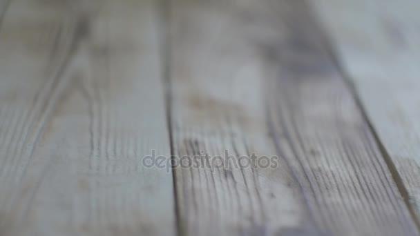 Dřevěné podlahy nebo tabulka. jezdec hnutí video.