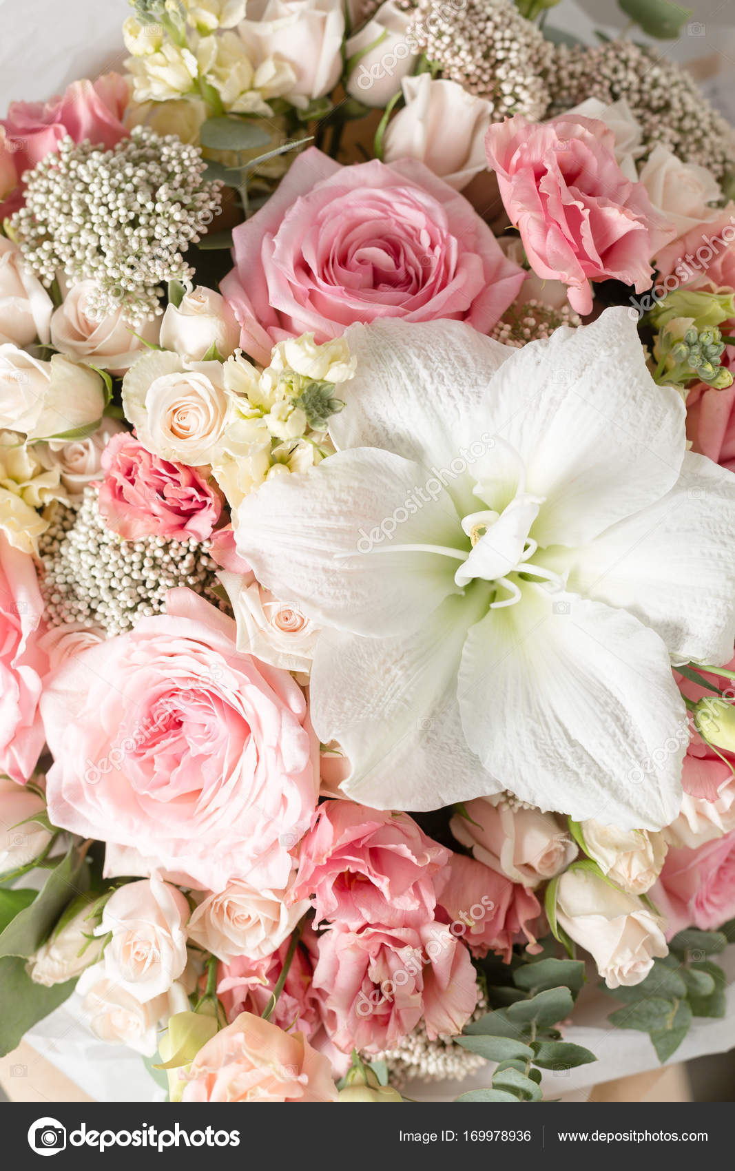 Blume Zusammensetzung Auf Einem Grauen Hintergrund Hochzeit Und