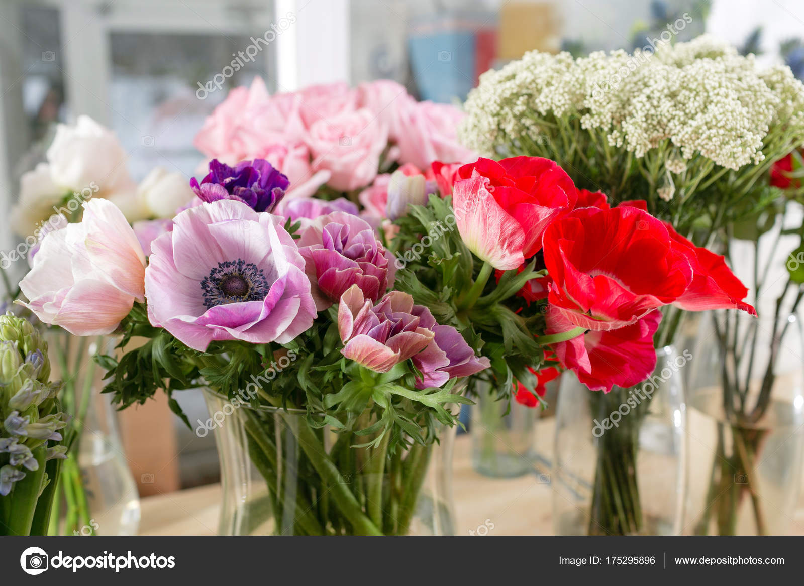 Different varieties fresh spring flowers in refrigerator for fresh spring flowers in refrigerator for flowers in flower shop bouquets on shelf florist business photo by malkovkosta mightylinksfo
