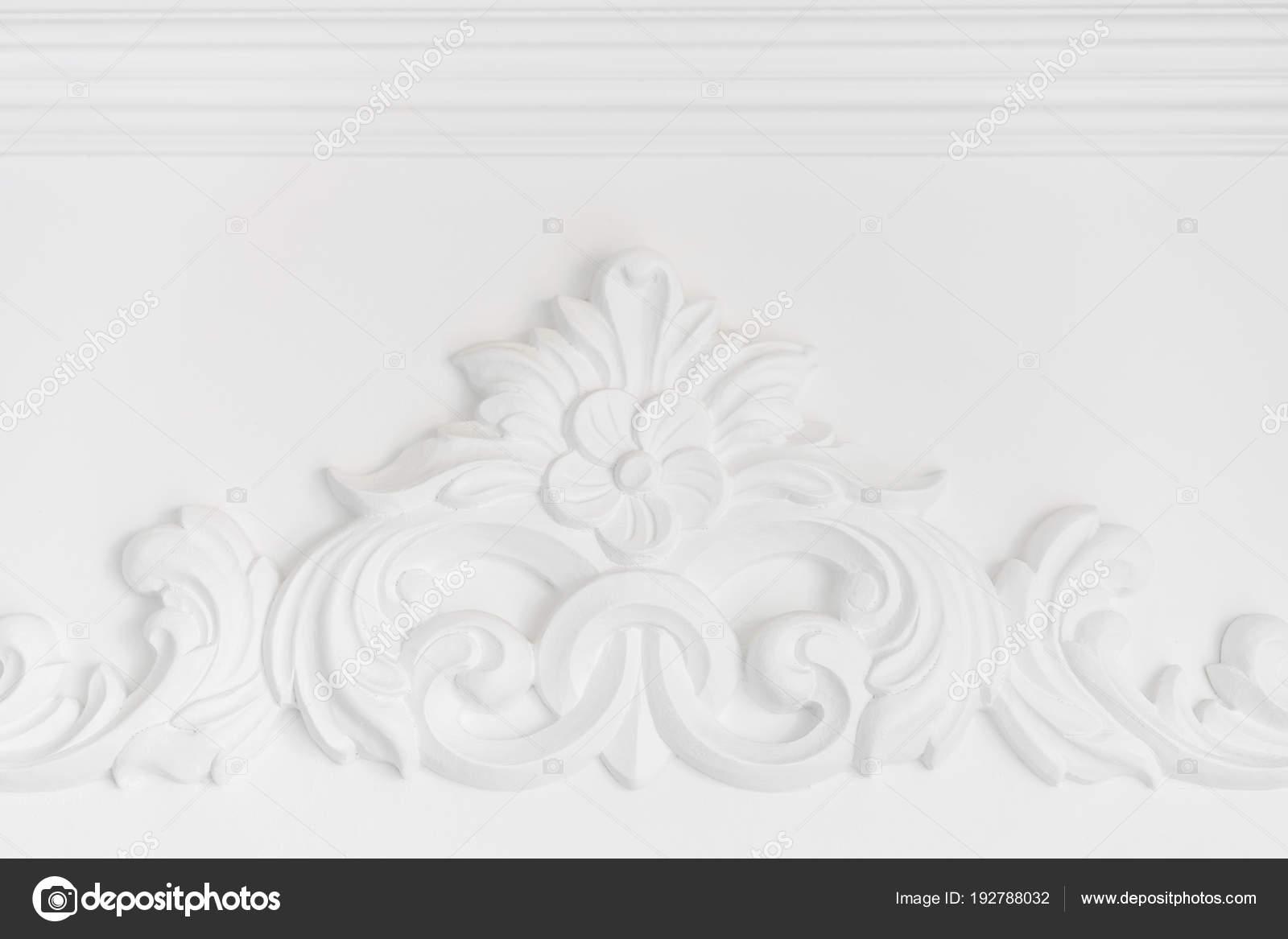 Sztukaterie Na Białej ścianie Luksusowe Wzornictwo Z Listwy